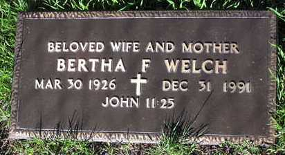 WELCH, BERTHA F. - Yavapai County, Arizona | BERTHA F. WELCH - Arizona Gravestone Photos