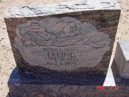 WELCH, FRED D. - Yavapai County, Arizona | FRED D. WELCH - Arizona Gravestone Photos