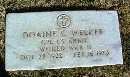 WELKER, DOAINE CHARLES - Yavapai County, Arizona   DOAINE CHARLES WELKER - Arizona Gravestone Photos