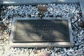WELLS, RAY ALEXANDER - Yavapai County, Arizona | RAY ALEXANDER WELLS - Arizona Gravestone Photos