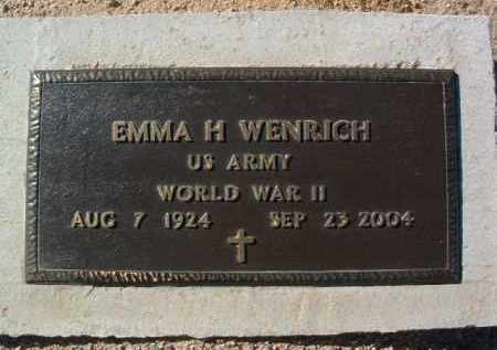 WENRICH, EMMA H. - Yavapai County, Arizona   EMMA H. WENRICH - Arizona Gravestone Photos