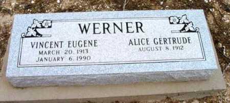 WERNER, ALICE GERTRUDE - Yavapai County, Arizona | ALICE GERTRUDE WERNER - Arizona Gravestone Photos