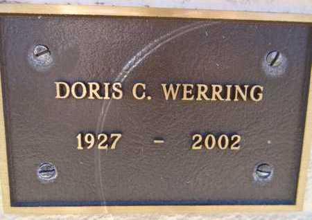 WERRING, DORIS C. - Yavapai County, Arizona   DORIS C. WERRING - Arizona Gravestone Photos