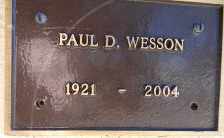 WESSON, PAUL DILLARD - Yavapai County, Arizona | PAUL DILLARD WESSON - Arizona Gravestone Photos