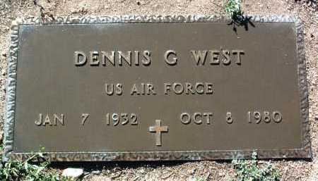 WEST, DENNIS GENE - Yavapai County, Arizona | DENNIS GENE WEST - Arizona Gravestone Photos