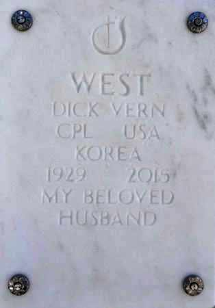 WEST, DICK VERN - Yavapai County, Arizona | DICK VERN WEST - Arizona Gravestone Photos