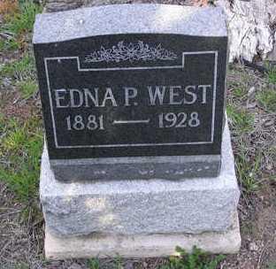 WEST, EDNA P. - Yavapai County, Arizona | EDNA P. WEST - Arizona Gravestone Photos