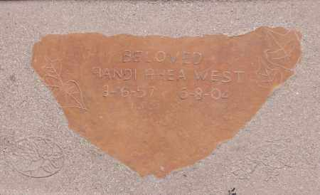 WEST, RANDI RHEA - Yavapai County, Arizona | RANDI RHEA WEST - Arizona Gravestone Photos