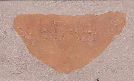 WEST, RANDI RHEA - Yavapai County, Arizona | RANDI RHEA WEST - Arizona Gravestone Photos
