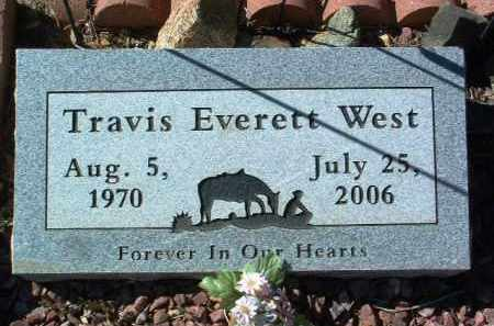 WEST, TRAVIS EVERETT - Yavapai County, Arizona | TRAVIS EVERETT WEST - Arizona Gravestone Photos