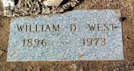 WEST, WILLIAM D. - Yavapai County, Arizona   WILLIAM D. WEST - Arizona Gravestone Photos