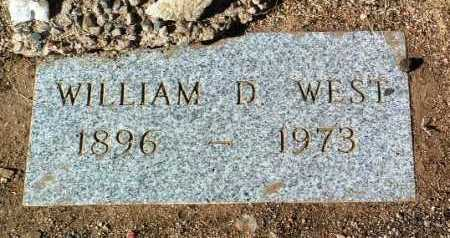 WEST, WILLIAM D. - Yavapai County, Arizona | WILLIAM D. WEST - Arizona Gravestone Photos
