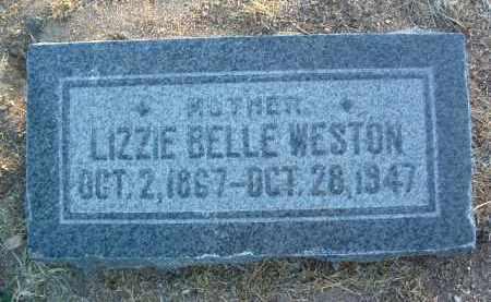 COX WESTON, LIZZIE BELLE (LIZZIE) - Yavapai County, Arizona   LIZZIE BELLE (LIZZIE) COX WESTON - Arizona Gravestone Photos