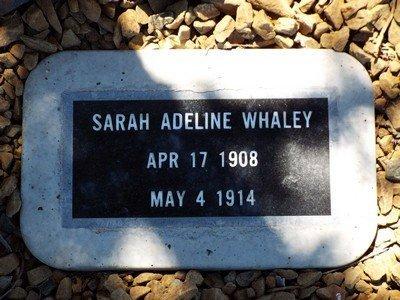 WHALEY, SARAH ADELINE - Yavapai County, Arizona | SARAH ADELINE WHALEY - Arizona Gravestone Photos