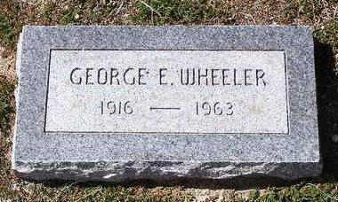 WHEELER, GEORGE EDWARD - Yavapai County, Arizona   GEORGE EDWARD WHEELER - Arizona Gravestone Photos