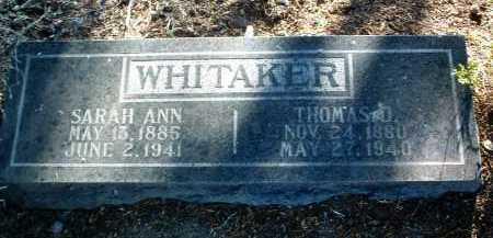 WHITAKER, THOMAS D. - Yavapai County, Arizona | THOMAS D. WHITAKER - Arizona Gravestone Photos