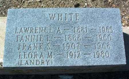 WHITE, FANNIE L. - Yavapai County, Arizona | FANNIE L. WHITE - Arizona Gravestone Photos