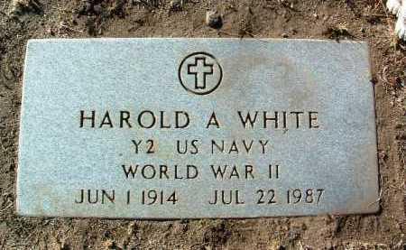 WHITE, HAROLD A. - Yavapai County, Arizona | HAROLD A. WHITE - Arizona Gravestone Photos