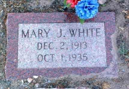 WHITE, MARY J. - Yavapai County, Arizona | MARY J. WHITE - Arizona Gravestone Photos