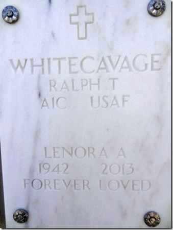 WHITECAVAGE, LENORA A. - Yavapai County, Arizona | LENORA A. WHITECAVAGE - Arizona Gravestone Photos