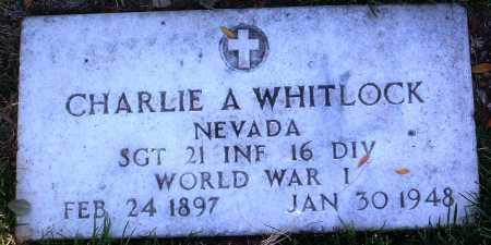 WHITLOCK, CHARLIE A. - Yavapai County, Arizona   CHARLIE A. WHITLOCK - Arizona Gravestone Photos