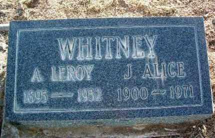 WHITNEY, LEROY ALVAH - Yavapai County, Arizona | LEROY ALVAH WHITNEY - Arizona Gravestone Photos
