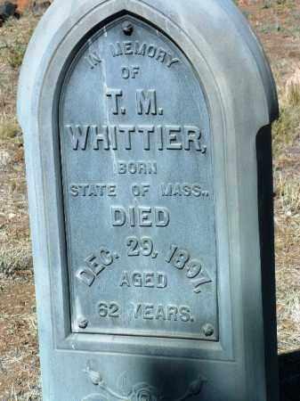 WHITTIER, T. M. - Yavapai County, Arizona   T. M. WHITTIER - Arizona Gravestone Photos