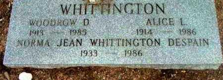 WHITTINGTON, ALICE L. - Yavapai County, Arizona | ALICE L. WHITTINGTON - Arizona Gravestone Photos
