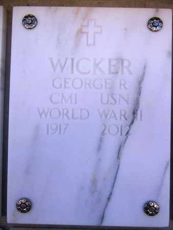 WICKER, GEORGE R. - Yavapai County, Arizona | GEORGE R. WICKER - Arizona Gravestone Photos