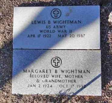 MARTIN WIGHTMAN, M. B. - Yavapai County, Arizona   M. B. MARTIN WIGHTMAN - Arizona Gravestone Photos