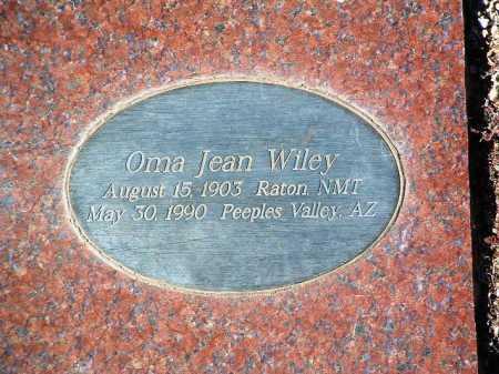 WILEY, OMA JEAN - Yavapai County, Arizona | OMA JEAN WILEY - Arizona Gravestone Photos