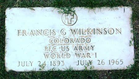 WILKINSON, FRANCIS G. - Yavapai County, Arizona | FRANCIS G. WILKINSON - Arizona Gravestone Photos