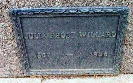 FROST WILLARD, JULIA A. - Yavapai County, Arizona | JULIA A. FROST WILLARD - Arizona Gravestone Photos