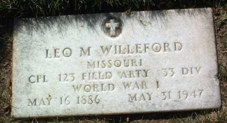 WILLEFORD, LEO M. - Yavapai County, Arizona   LEO M. WILLEFORD - Arizona Gravestone Photos