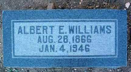 WILLIAMS, ALBERT E. - Yavapai County, Arizona | ALBERT E. WILLIAMS - Arizona Gravestone Photos
