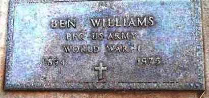 WILLIAMS, BEN - Yavapai County, Arizona | BEN WILLIAMS - Arizona Gravestone Photos