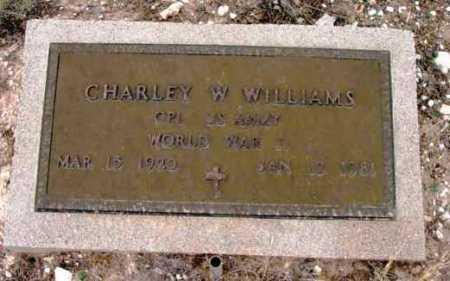 WILLIAMS, CHARLEY WILLARD - Yavapai County, Arizona | CHARLEY WILLARD WILLIAMS - Arizona Gravestone Photos