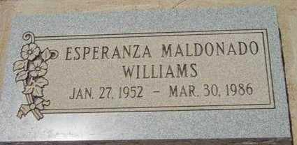 MALDONADO WILLIAMS, ESPERANZA - Yavapai County, Arizona | ESPERANZA MALDONADO WILLIAMS - Arizona Gravestone Photos