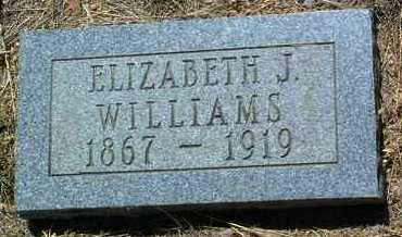 WILLIAMS, ELIZABETH JANE - Yavapai County, Arizona | ELIZABETH JANE WILLIAMS - Arizona Gravestone Photos