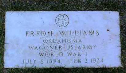 WILLIAMS, FRED F. - Yavapai County, Arizona   FRED F. WILLIAMS - Arizona Gravestone Photos