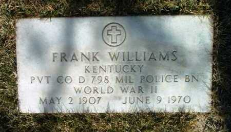WILLIAMS, FRANK - Yavapai County, Arizona   FRANK WILLIAMS - Arizona Gravestone Photos