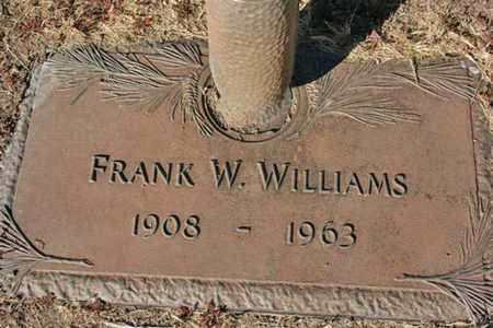 WILLIAMS, FRANK W. - Yavapai County, Arizona | FRANK W. WILLIAMS - Arizona Gravestone Photos