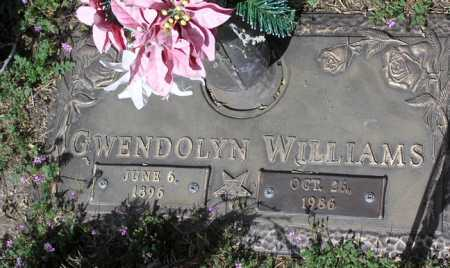 WILLIAMS, GWENDOLYN - Yavapai County, Arizona   GWENDOLYN WILLIAMS - Arizona Gravestone Photos