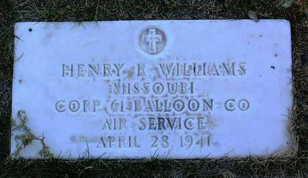 WILLIAMS, HENRY  ROBERT - Yavapai County, Arizona   HENRY  ROBERT WILLIAMS - Arizona Gravestone Photos