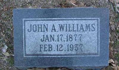 WILLIAMS, JOHN A. - Yavapai County, Arizona | JOHN A. WILLIAMS - Arizona Gravestone Photos