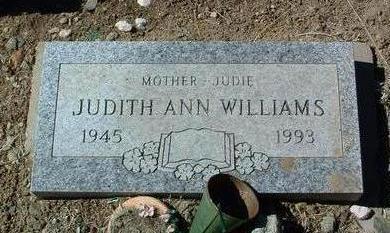WILLIAMS, JUDITH ANN - Yavapai County, Arizona   JUDITH ANN WILLIAMS - Arizona Gravestone Photos