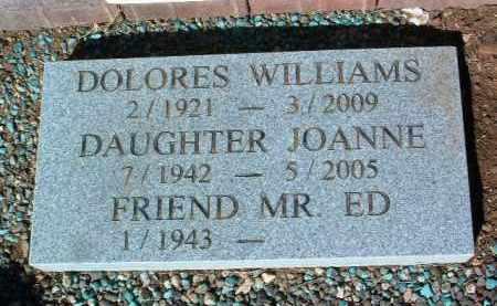 WILLIAMS, JOANNE - Yavapai County, Arizona | JOANNE WILLIAMS - Arizona Gravestone Photos