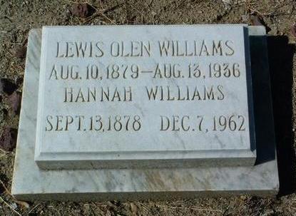 LANDER WILLIAMS, HANNAH - Yavapai County, Arizona | HANNAH LANDER WILLIAMS - Arizona Gravestone Photos