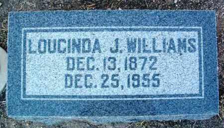 WILLIAMS, LOUCINDA JANE - Yavapai County, Arizona   LOUCINDA JANE WILLIAMS - Arizona Gravestone Photos