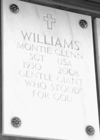 WILLIAMS, MONTIE GLENN - Yavapai County, Arizona   MONTIE GLENN WILLIAMS - Arizona Gravestone Photos